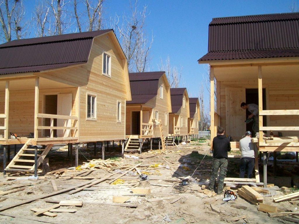 строительство каркасного коттеджного посёлка