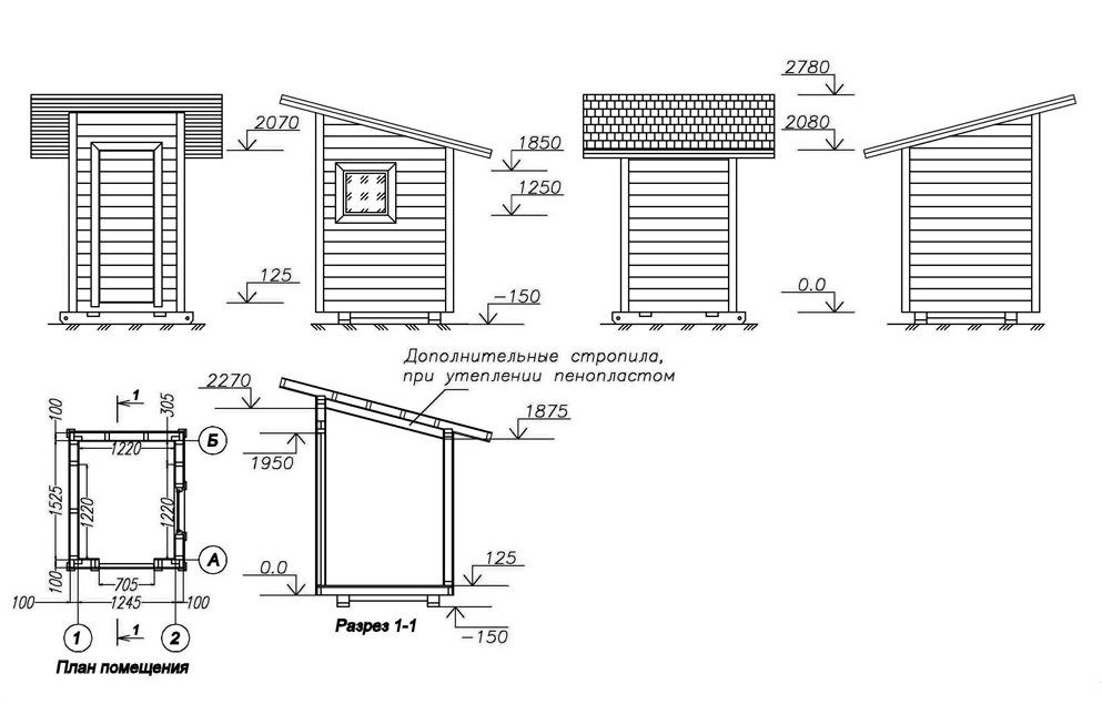 туалет для дачи своими руками чертежи деревянный