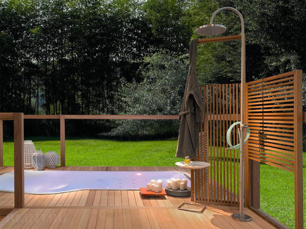 В этой статье рассказывается о строительстве простого летнего душа на даче
