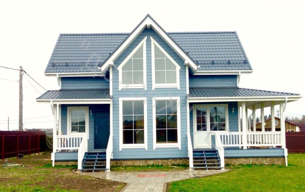 фото готового каркасного дома