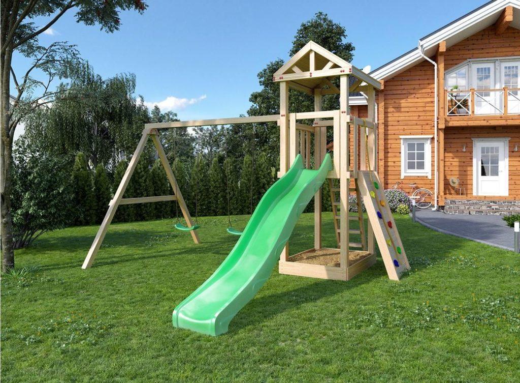 детские площадки своими руками из дерева
