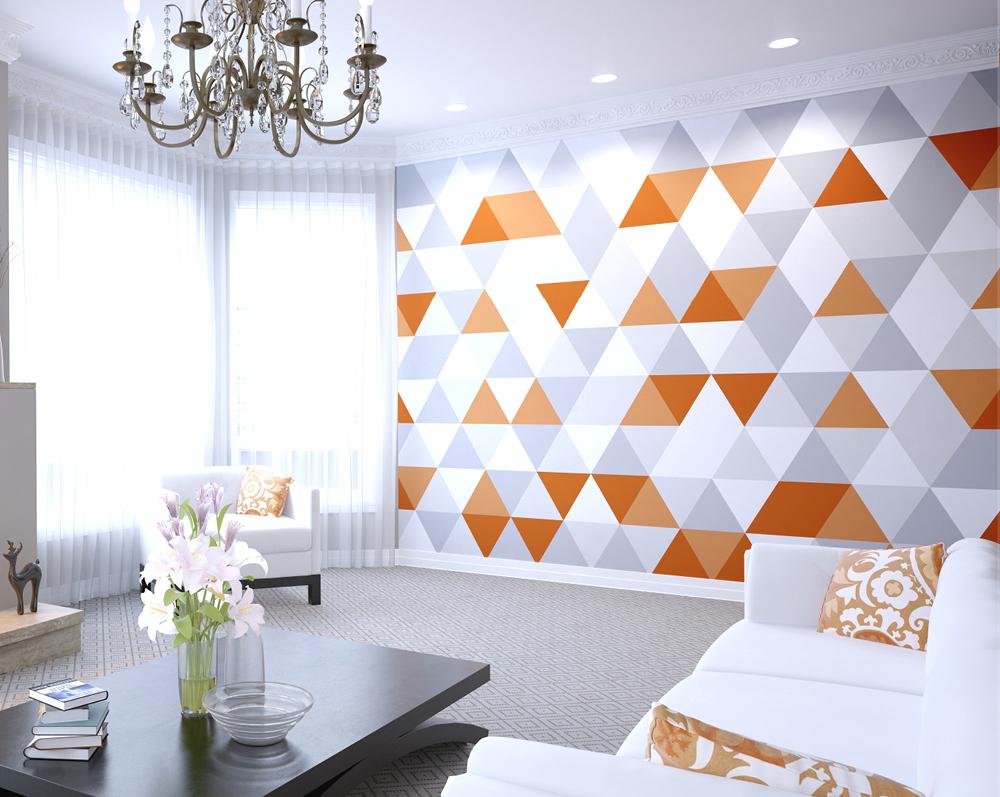 Геометрический рисунок на стене