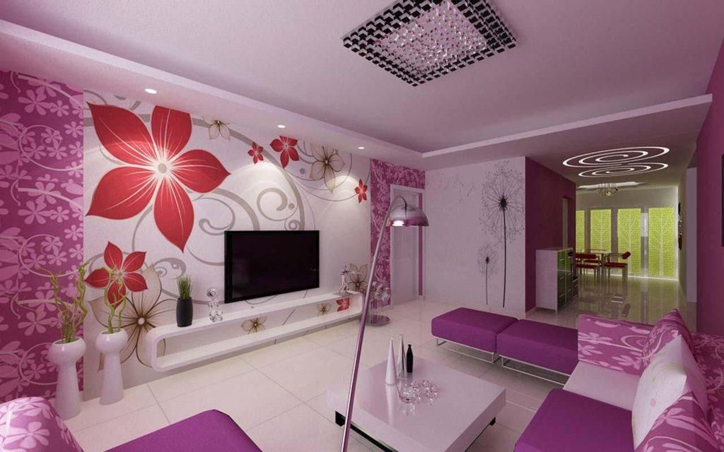 Дизайн интерьера комнаты большого размера