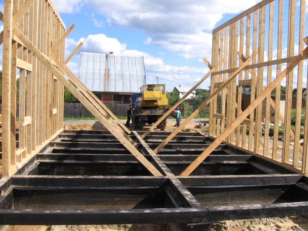 каркасные дома пошаговое строительство фото бунинские луга